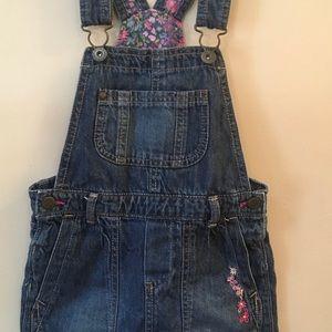 Girls Denim Overall Skirt